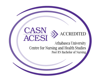 CASN ACESI Accredited. Athabasca University. Centre for Nursing and Health Studies. Post RN Bachelor of Nursing.