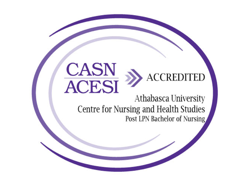 CASN ACESI Accredited. Athabasca University Centre for Nursing and Health Studies. Post LPN Bachelor of Nursing.
